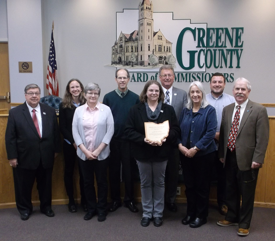 Presentation of 2016 OHRAB Achievement Award to Greene County Records Center adn Archives