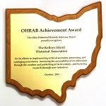 OHRAB Achievement Award 2015 Kelleys Island